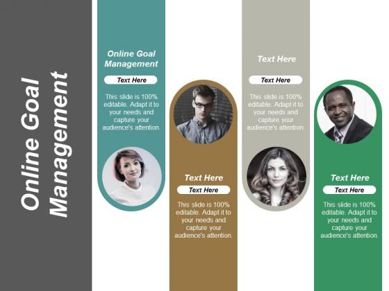 Online Goal Management Ppt PowerPoint Presentation Outline Smartart Cpb