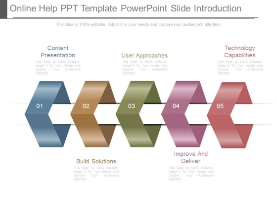 online help ppt template powerpoint slide introduction powerpoint