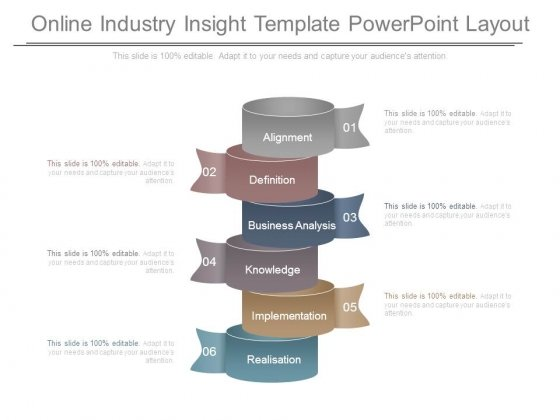 Online Industry Insight Template Powerpoint Layout