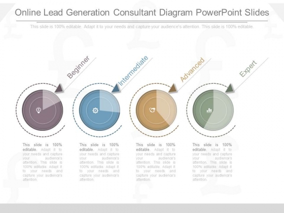 Online Lead Generation Consultant Diagram Powerpoint Slides