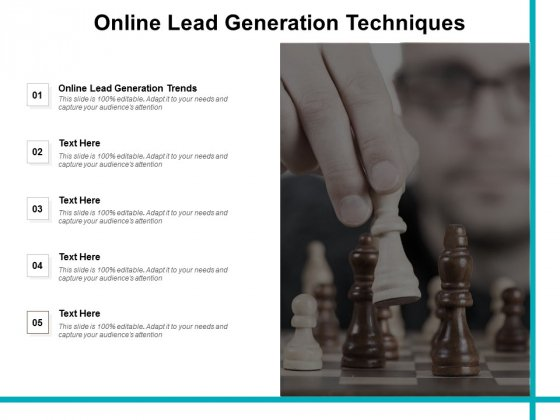 Online Lead Generation Techniques Ppt PowerPoint Presentation Professional Infographics Cpb