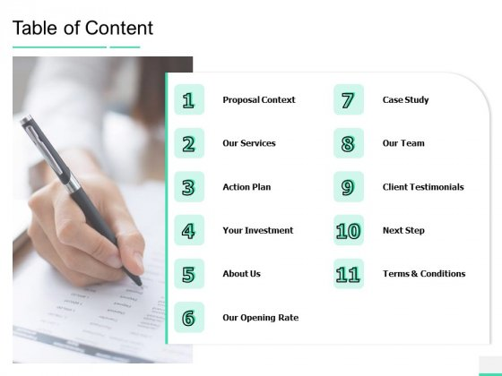 Online Mail Corporate Proposal Table Of Content Ppt Visual Aids Ideas PDF