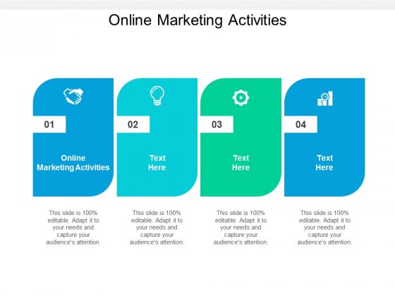 Online Marketing Activities Ppt PowerPoint Presentation Inspiration Structure Cpb
