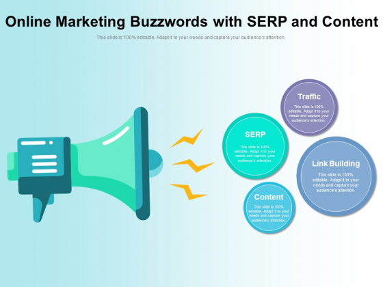 Online Marketing Buzzwords With SERP And Content Ppt PowerPoint Presentation File Professional PDF