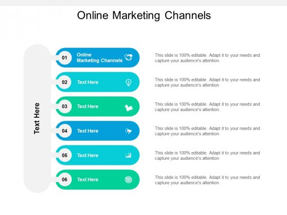 Online Marketing Channels Ppt PowerPoint Presentation Professional Tips Cpb