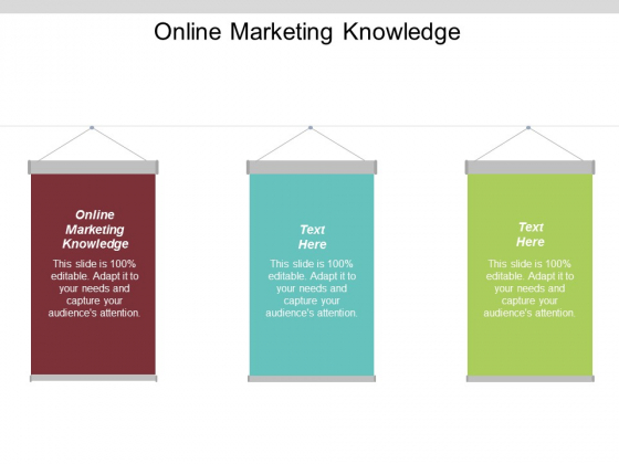 Online Marketing Knowledge Ppt PowerPoint Presentation Icon Grid Cpb