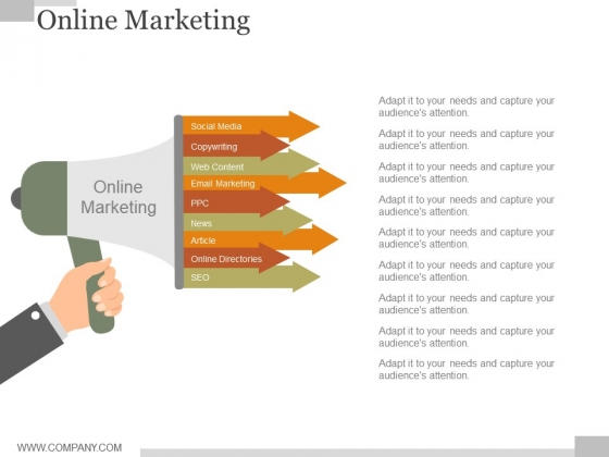 Online Marketing Ppt PowerPoint Presentation Summary