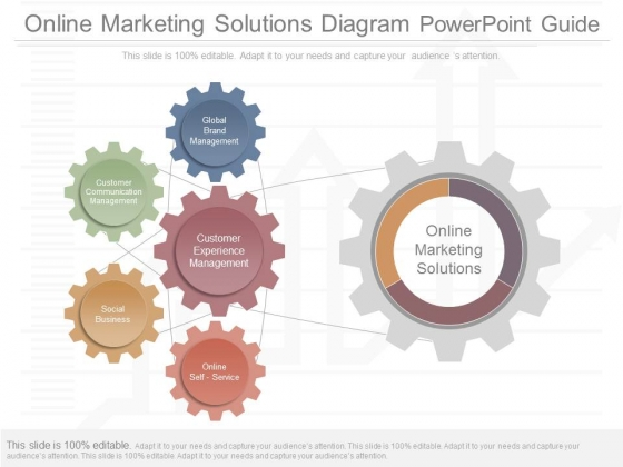 Online Marketing Solutions Diagram Powerpoint Guide