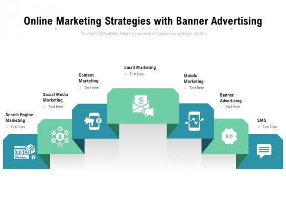 Online Marketing Strategies With Banner Advertising Ppt PowerPoint Presentation Inspiration Graphics Download PDF
