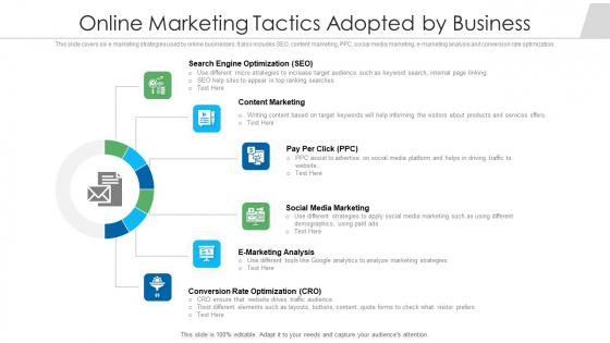 Online Marketing Tactics Adopted By Business Ppt Slides Demonstration PDF