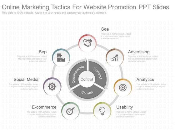 Online Marketing Tactics For Website Promotion Ppt Slides