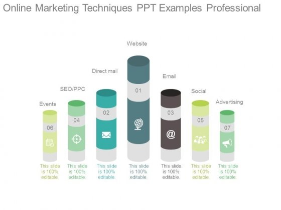 Online Marketing Techniques Ppt Examples Professional