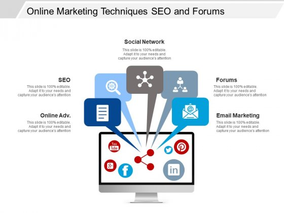 Online Marketing Techniques Seo And Forums Ppt Powerpoint Presentation Professional Backgrounds