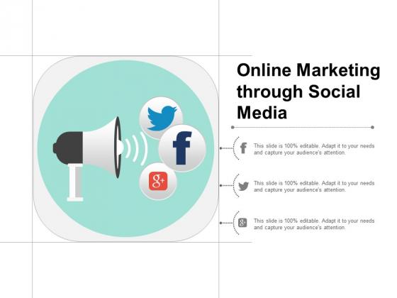 Online Marketing Through Social Media Ppt Powerpoint Presentation Summary Slide