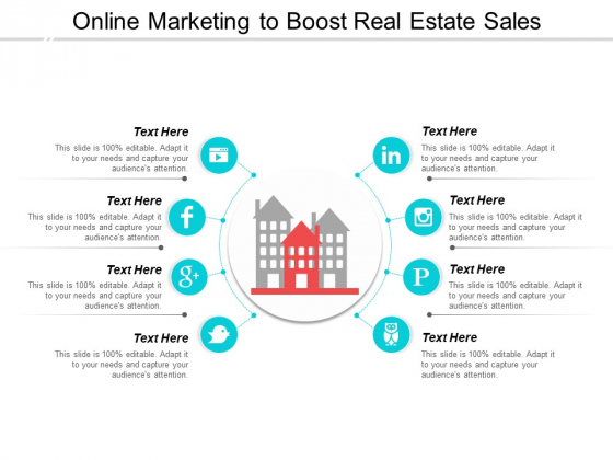 Online Marketing To Boost Real Estate Sales Ppt PowerPoint Presentation Show Graphics