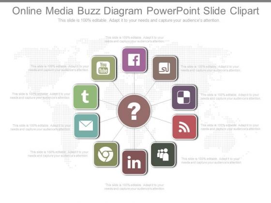 Online Media Buzz Diagram Powerpoint Slide Clipart