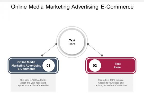 Online Media Marketing Advertising E Commerce Ppt PowerPoint Presentation Inspiration Demonstration Cpb Pdf