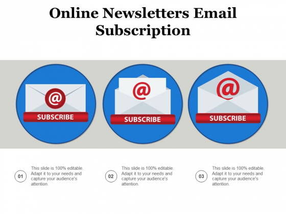 Online Newsletters Email Subscription Ppt PowerPoint Presentation Gallery Slides