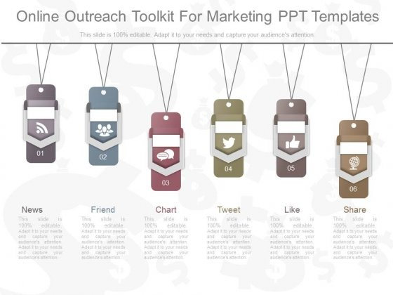 Online Outreach Toolkit For Marketing Ppt Templates