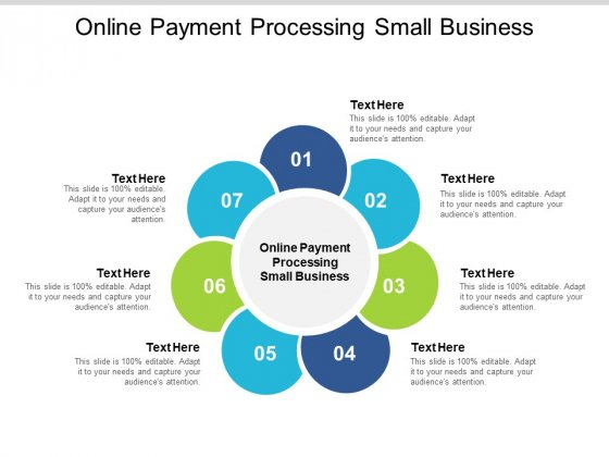 Online Payment Processing Small Business Ppt PowerPoint Presentation Icon Template Cpb