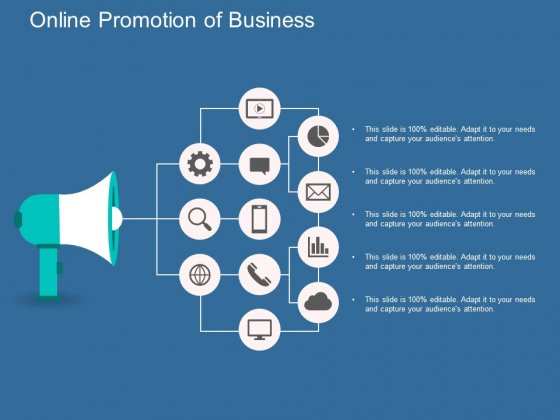 Online Promotion Of Business Ppt Powerpoint Presentation Professional Graphics Download