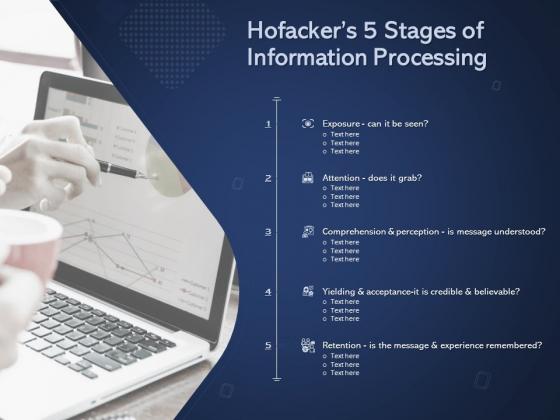 Online Promotional Marketing Frameworks Hofackers 5 Stages Of Information Processing Pictures PDF