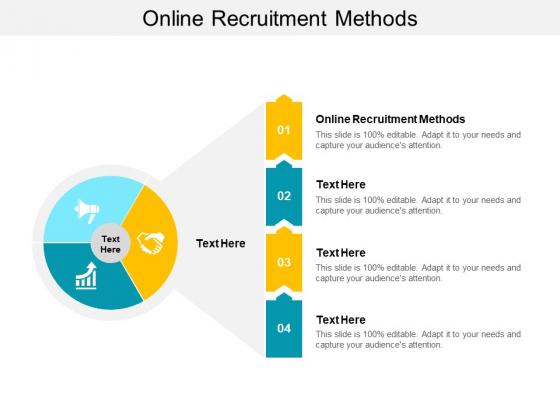 Online Recruitment Methods Ppt PowerPoint Presentation File Master Slide Cpb