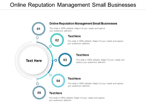 Online Reputation Management Small Businesses Ppt PowerPoint Presentation Inspiration Professional Cpb
