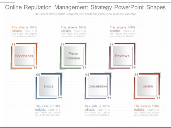 Online Reputation Management Strategy Powerpoint Shapes