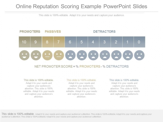 Online Reputation Scoring Example Powerpoint Slides