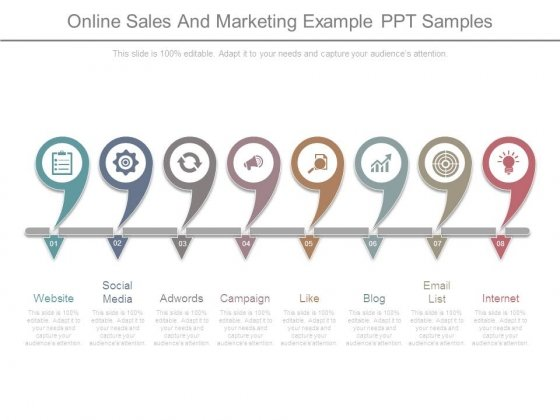 Online Sales And Marketing Example Ppt Samples