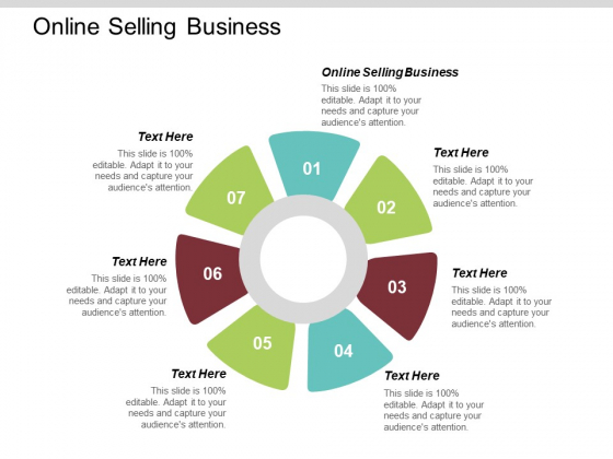 Online Selling Business Ppt PowerPoint Presentation Summary Background Designs Cpb