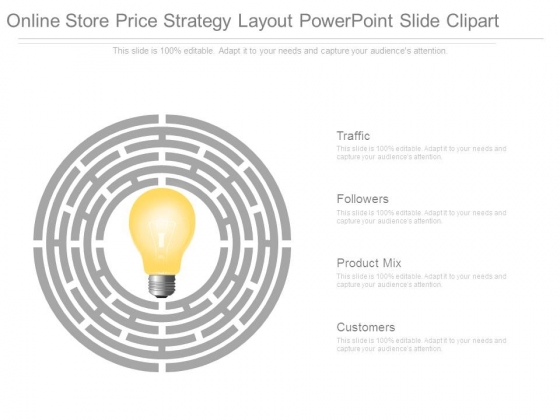 Online Store Price Strategy Layout Powerpoint Slide Clipart