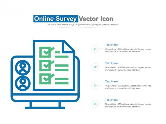 Online Survey Vector Icon Ppt PowerPoint Presentation Layouts Design Templates