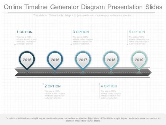 Online Timeline Generator Diagram Presentation Slides