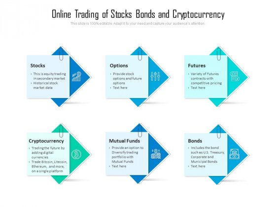 Online Trading Of Stocks Bonds And Cryptocurrency Ppt PowerPoint Presentation Slides Grid PDF
