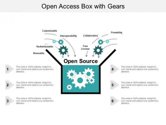 Open Access Box With Gears Ppt PowerPoint Presentation Inspiration Demonstration
