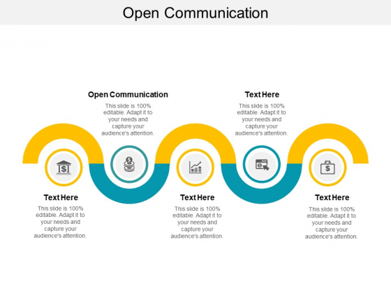 Open Communication Ppt PowerPoint Presentation Infographics Influencers Cpb