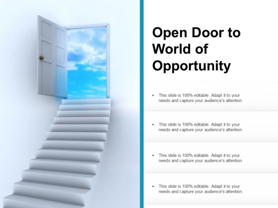 Open Door To World Of Opportunity Ppt PowerPoint Presentation Tips