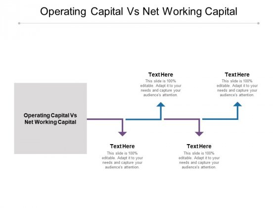 Operating Capital Vs Net Working Capital Ppt PowerPoint Presentation Show Background Cpb