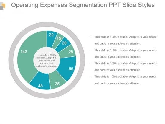 Operating Expenses Segmentation Ppt Slide Styles
