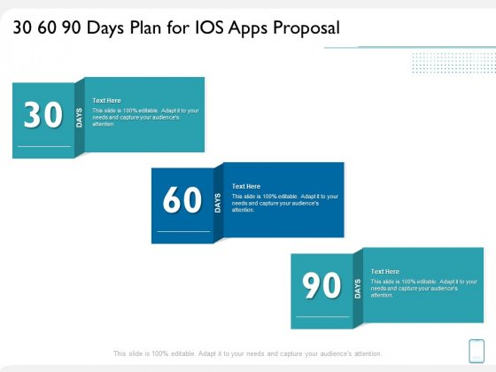 operating system application 30 60 90 days plan for ios apps proposal ppt infographics example pdf