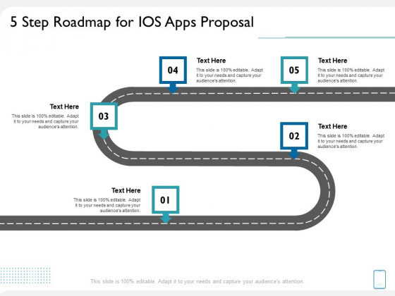 operating system application 5 step roadmap for ios apps proposal ppt rules pdf