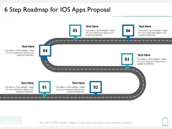 operating system application 6 step roadmap for ios apps proposal ppt professional backgrounds pdf