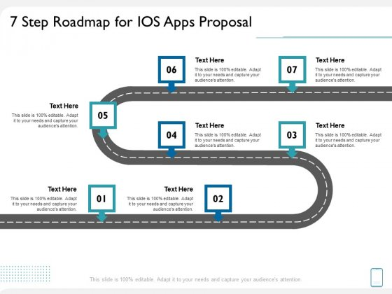 operating system application 7 step roadmap for ios apps proposal ppt pictures clipart pdf