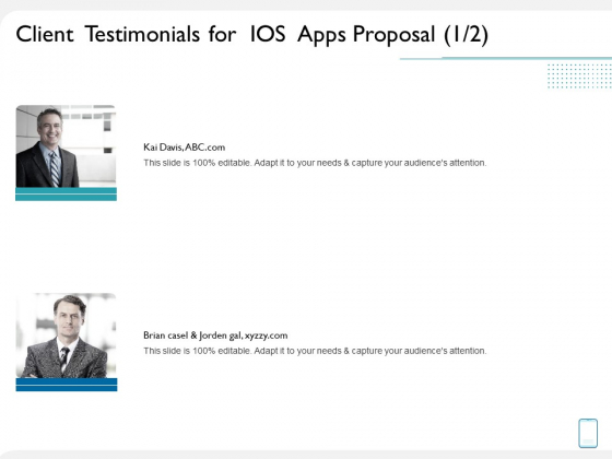 operating system application client testimonials for ios apps proposal brian ppt layouts pictures pdf