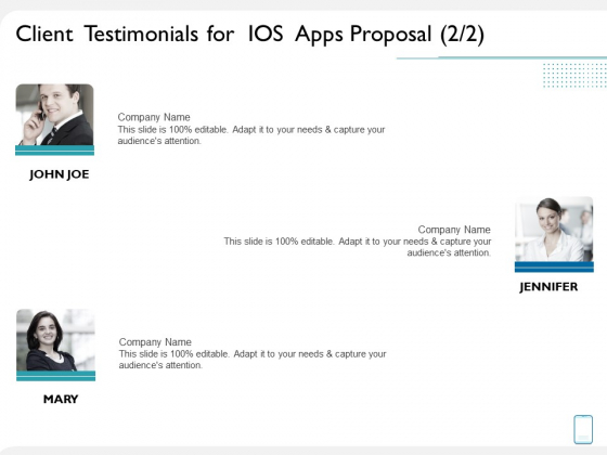 operating system application client testimonials for ios apps proposal ppt portfolio graphics example pdf