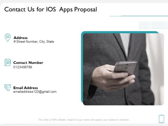 operating system application contact us for ios apps proposal ppt graphics pdf