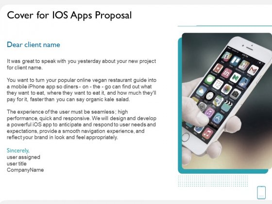 operating system application cover for ios apps proposal ppt icon skills pdf