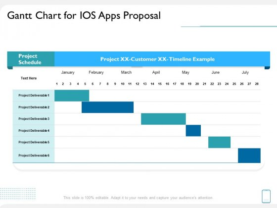 operating system application gantt chart for ios apps proposal ppt icon introduction pdf